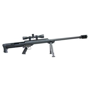 Barrett Model 99A1 .50 BMG Kit - black bolt action rifle with 32""