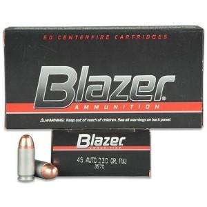 CCI Blazer (3570) .45ACP 230 Gr FMJ (50) Aluminum non-reloadable case
