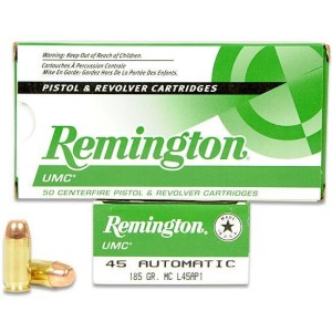 Remington (L45AP1) .45ACP 185Gr MC Flat Nose UMC (50)