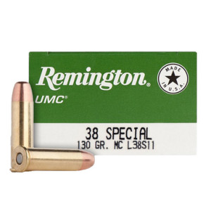 Remington UMC (L38S11) .38 Special 138 Gr MC (50)